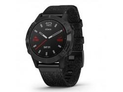 Fenix 6 Sapphire Czarny z powłoką węglową (DLC) i czarnym nylonowym paskiem