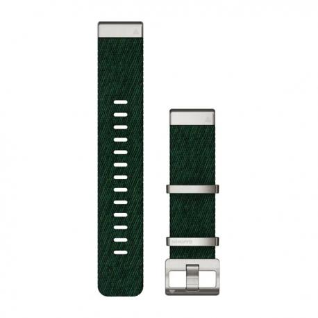 Nylonowy pasek żakardowy QuickFit Fenix 6 Zielony 22mm