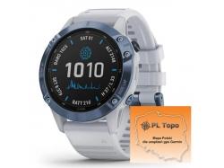 Fenix 6 Pro Solar Tytan Mineral Blue z PL TOPO 2020.1