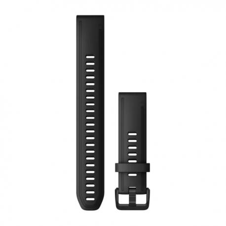 Silikonowy pasek QuickFit Fenix 6s Czarny Długi 20mm