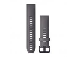 Silikonowy pasek QuickFit Fenix 6s Szary z fioletowym zapięciem 20mm