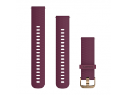Pasek do Forerunner 245/645/Vivoactive/Vivomove (20mm) Bordowo-złoty silikonowy mały/średni