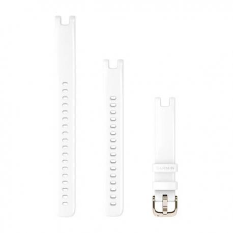 Pasek Lily™ (14 mm) Biały z kremowo-złotym zapięciem
