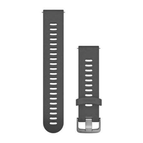 Pasek do Venu Sq/FR 245/645/Vivoactive3/Vivomove (20mm) Popielaty silikonowy pasek z zapięciem ze stali nierdzewnej