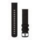 Pasek do Venu Sq/FR 245/645/Vivoactive3/Vivomove (20mm) Czarna nylonowa plecionka z popielatym zapięciem