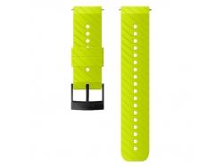 Suunto pasek do zegarka 24mm athletic 3 silicone strap lime black size M