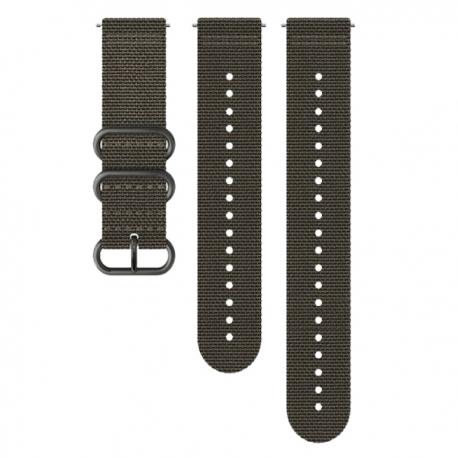 pasek do zegarka Suunto 24mm Explore 2 Textile Strap Foliage Gray Size M+L