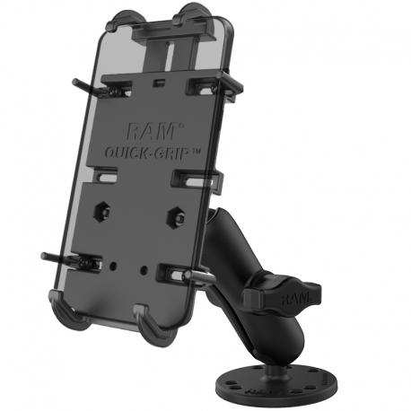 RAM Mounts Sprężynowy uchwyt do telefonu RAM® Quick-Grip ™ XL z nawiercaną podstawą