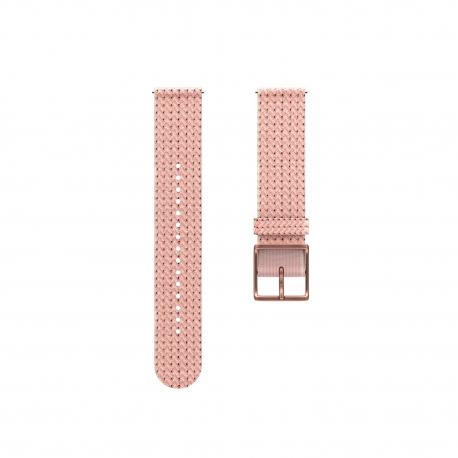 POLAR Pasek 20mm tekstylny różowo-złoty S