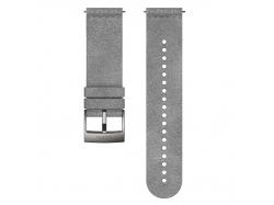 Suunto Pasek do zegarka z mikrofibry Urban 5 o szerokości 24 mm Grey Steel, rozmiar M