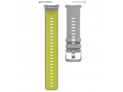 Silikonowy pasek Polar Vantage V2 S-L szaro-limonkowy