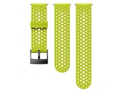 Suunto 24mm Athletic 1 Silicone Strap Lime Black, rozmiar S+M