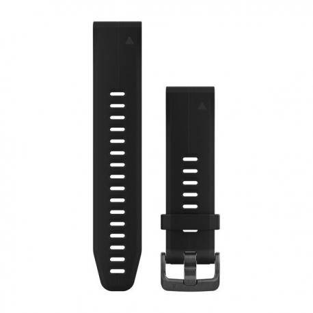 Silikonowy pasek QuickFit Fenix 5s Czarny 20mm