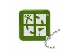 Geocaching Logo Travel Tag - Zielony