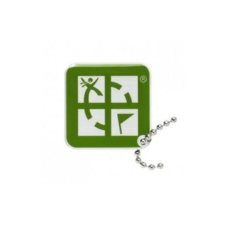 Geocaching Logo Travel Tag - Zielony