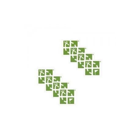 Mini naklejki geocaching.com - Zielone