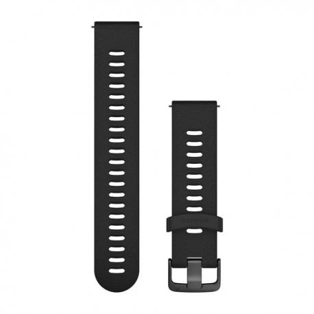 Pasek umożliwiający łatwe zdejmowanie (20mm) Czarny z popielatym zapięciem