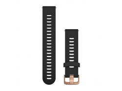 Pasek do Forerunner 245/645/Vivoactive/Vivomove (20mm) Czarny z zapięciem w kolorze różowego złota