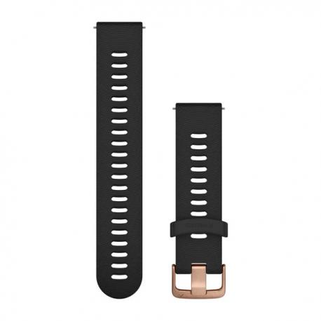Pasek umożliwiający łatwe zdejmowanie (20mm) Czarny z zapięciem w kolorze różowego złota