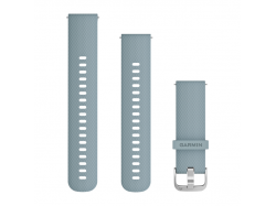 Pasek do Forerunner 245/645/Vivoactive/Vivomove (20mm) Turkusowo-srebrny pasek silikonowy