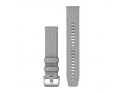 Pasek do Forerunner 245/645/Vivoactive/Vivomove (20mm) Szary z zapięciem ze stali nierdzewnej