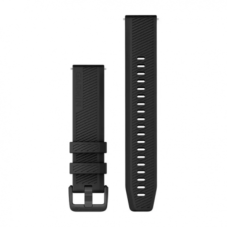Pasek do Forerunner 245/645/Vivoactive/Vivomove (20mm) Czarny z czarnym zapięciem
