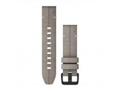 Zamszowy pasek QuickFit Fenix 6s Blado szary 20mm