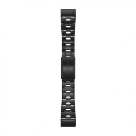 Silikonowy pasek QuickFit Fenix 6x Szaro-karbonowy tytanowy DLC 26mm