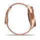 Vívomove Luxe Koperta ze stali nierdzewnej z 18-karatowym różowym złotem PVD z różowo-złotą bransoletą typu milanese