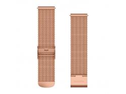 Pasek bransoleta Forerunner 245/645/Vivoactive/Vivomove (20mm) Różowo-złoty mediolański z 18-karatowym różowo-złotym zapięciem