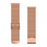 Pasek do Forerunner 245/645/Vivoactive/Vivomove (20mm) Różowo-złoty mediolański z 18-karatowym różowo-złotym zapięciem PVD