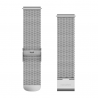 Pasek do Forerunner 245/645/Vivoactive/Vivomove (20mm) Srebrny mediolański ze srebrnym zapięciem