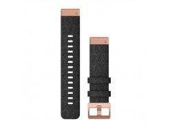 Nylonowy pasek QuickFit Fenix 6s fioletowo-czarny z różowo-złotym zapięciem 20mm
