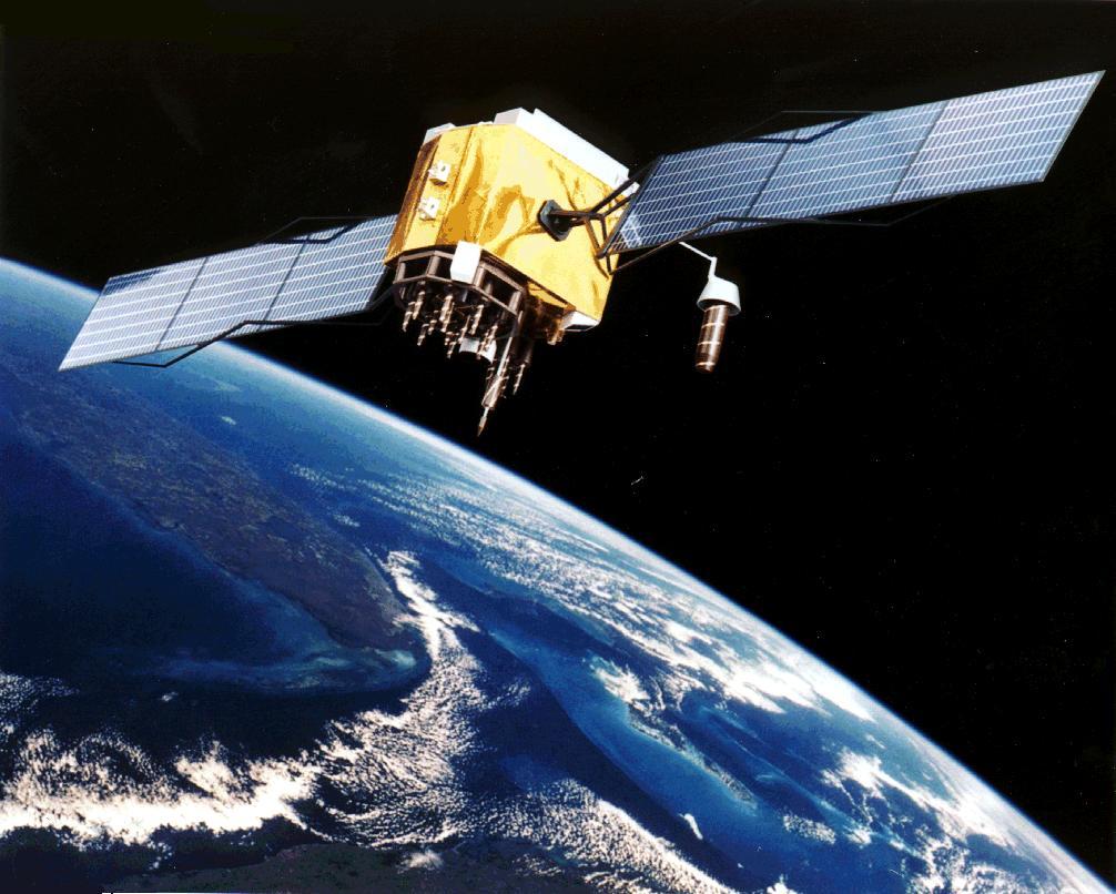 Satelita GPS (źródło Wikipedia)