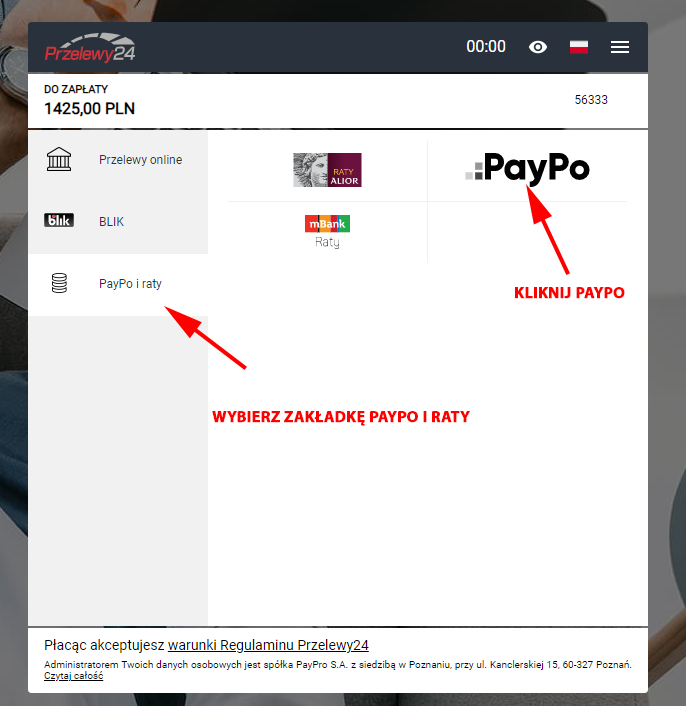 PayPo w Przelewy24