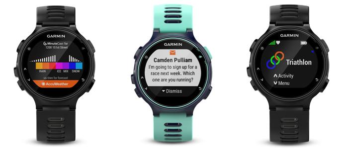 zegarek garmin forerunner 735xt czarno-jasnobłękitny